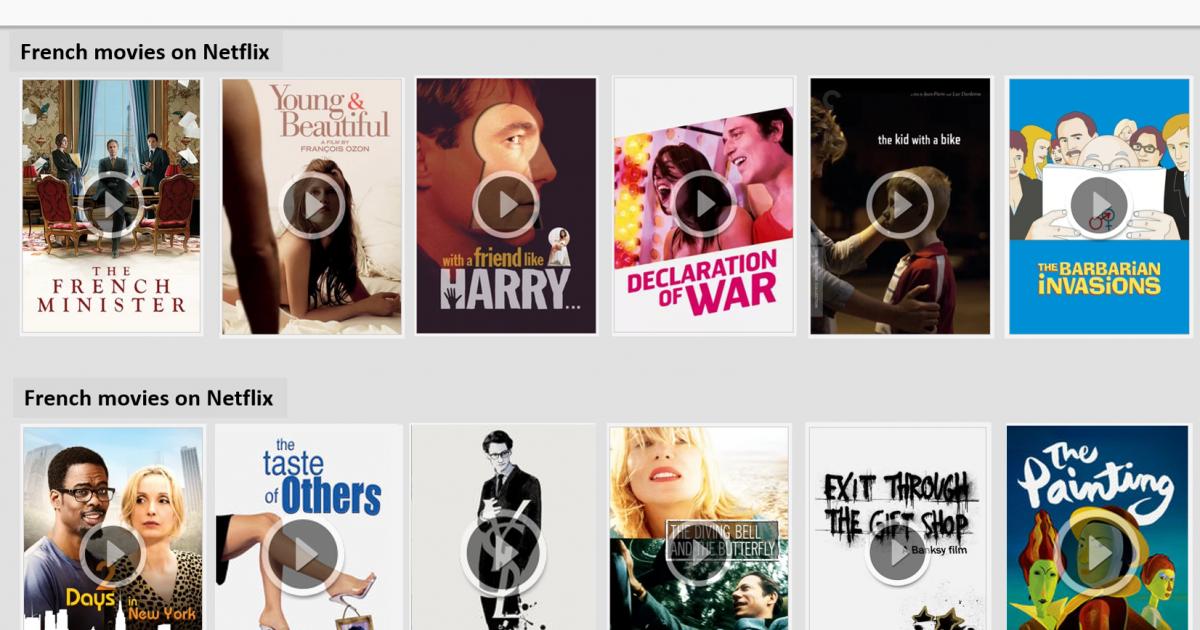 Netflix France - liste des meilleurs films et s voir