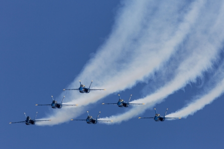 Blue angels in blue sky