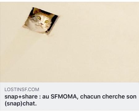snap+share : au SFMOMA, chacun cherche son (snap)chat.