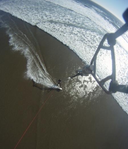 La terre-mer vue du kite!